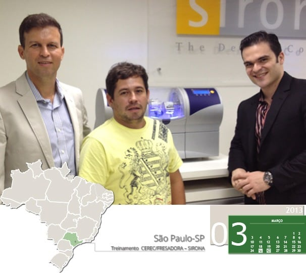 Curso CEREC, unidade fresadora na sede da Sirona em São Paulo