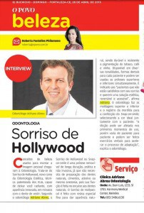 Matéria sobre Sorriso de Hollywood.