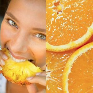 Frutas cítricas deixam os dentes mais sensíveis.