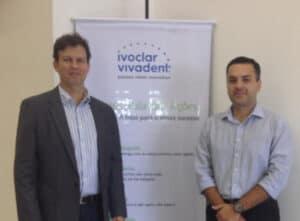 Dr. Adriano Abreu com Professor Fábio Krohn na Ivoclar Vivadent