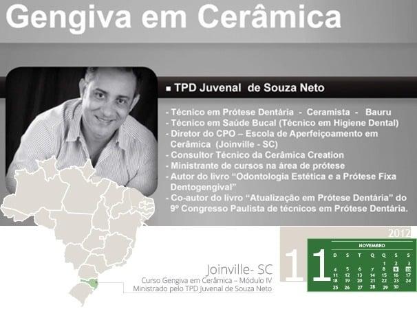 Curso Gengiva em Cerâmica – Módulo IV - Ministrado pelo TPD Juvenal de Souza Neto
