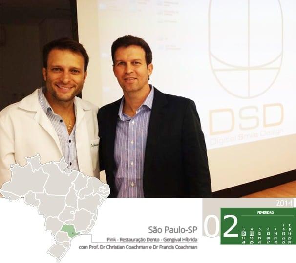 Dr. Adriano Abreu e Dr. Christian Coachman no curso Pink - Restauração Dento - Gengival Híbrida. A solução protética para defeitos de rebordo anterior