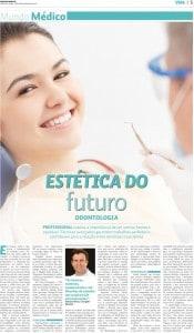 Matéria de página inteira sobre as novas tecnologias da odontologia estética no jornal Diário do Nordeste