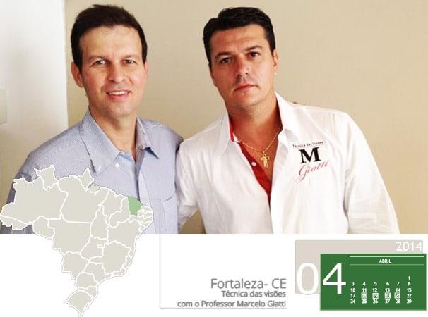 """Curso """"Técnica das Visões""""  com o Professor Marcelo Giatti foi realizado em Fortaleza"""