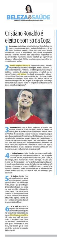 Cristiano Ronaldo, o sorriso da Copa