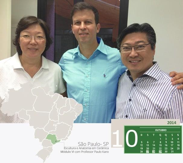 Na foto Dra Alice Kano, Dr. Adriano Abreu e Dr. Paulo Kano