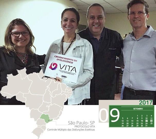 Curso de Rejuvenescimento Facial com Protocolo VITA realizado em São Paulo