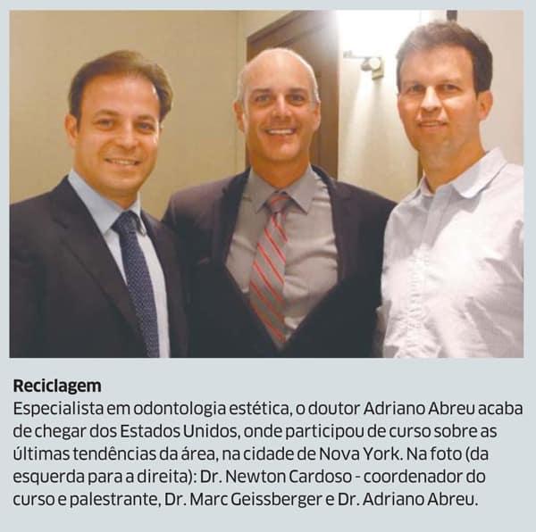 Odontologia estetica em fortaleza Dr Adriano Abreu no Diario do Nordeste