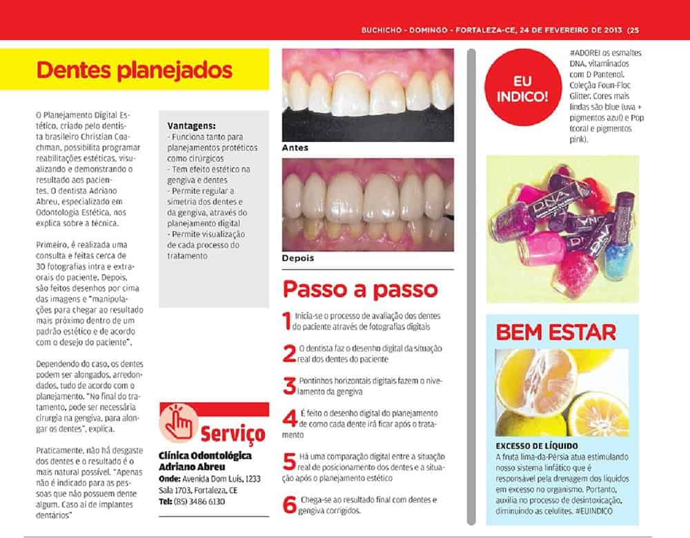 Clinica Adriano Abreu no caderno Buchicho