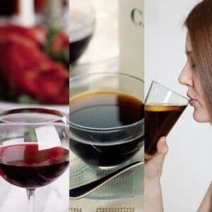 Bebidas como o vinho tinto, o café e o refrigerante favorecem o escurecimento.