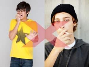 Hábitos como roer unhas e fumar causam doenças como a gengivite, que podem evoluir para casos de perda óssea e dentes